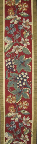 Red Grapes tapestry border - on sale, woven in France