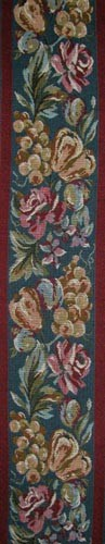 Fruits tapestry border - on sale, woven in France