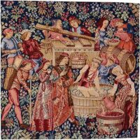 The Vintage - left tapestry - French medieval tapestries