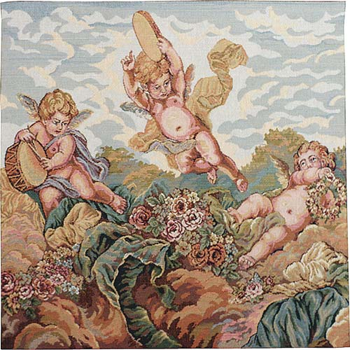 Musical Cherubs tapestry - Italian wallhanging