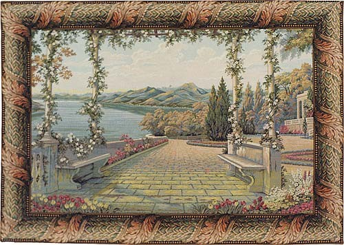 Lake and Terrace wall tapestry - Lake Como tapestries