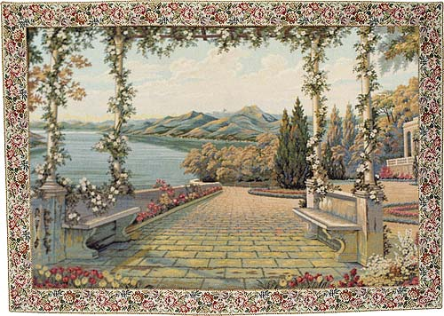 Lake and Terrace tapestry - Italian wall tapestries