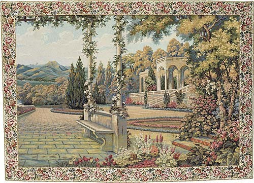 Terrace at Lake Como tapestry - woven in Italy