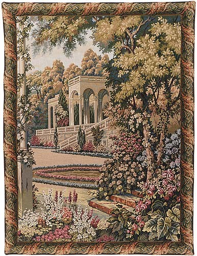 Temple in the Gardens tapestry - Lake Como wall tapestries
