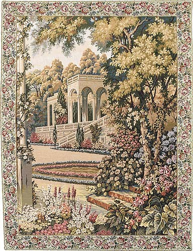Temple in the Gardens wall tapestry - Lake Como tapestries