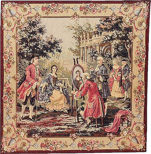 Society in the Park tapestry - French tapestries