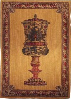 Amphora wallhanging - Belgian chenille wall-hanging