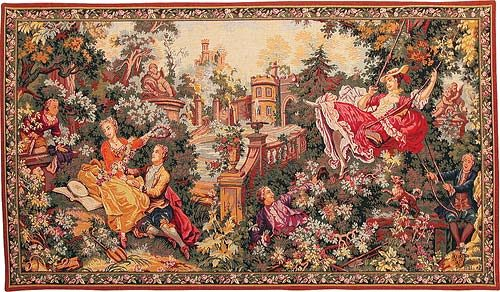 The Swing tapestry wall-hanging - Fragonard tapestries