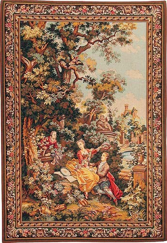 The Indiscretion tapestry - left - Fragonard tapestries