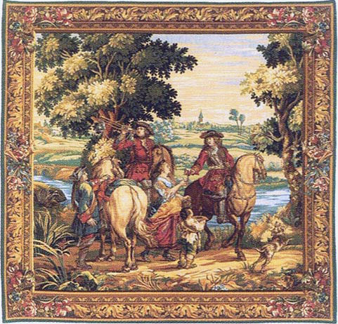 The History of the King - square - Les Sonneurs du Roi tapestry