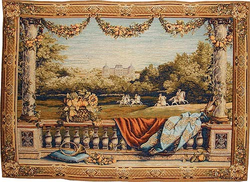 Chateau Bellevue tapestry - Charles le Brun wall tapestries