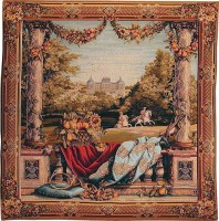 Chateau Bellevue - square wall tapestry