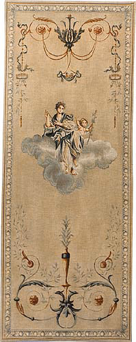 Blue Lady portiere tapestry - wall hanging