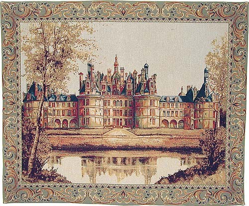 Chateau of Chambord tapestry - woven in France