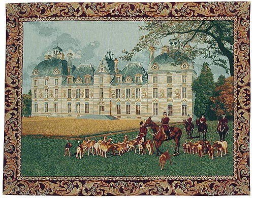 Chateau of Cheverny tapestry - chateaux tapestries