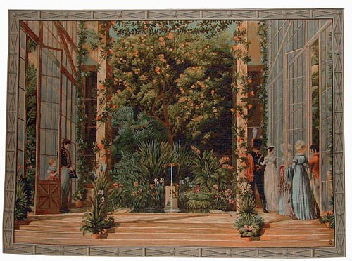 Parisian Conservatory tapestry - woven in wool and cotton