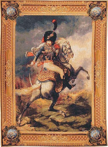 Imperial Cavalier tapestry - Napoleonic tapestry wallhanging - French tapestry wallhanging
