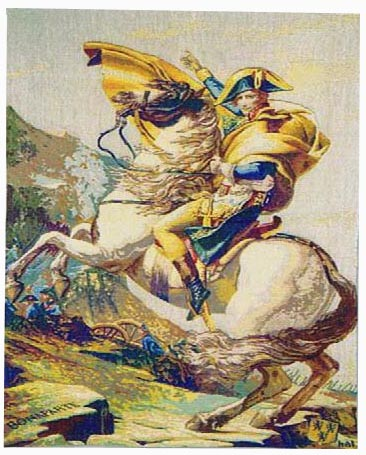 Napoleon Bonaparte tapestry - Napoleon Crossing the Alps
