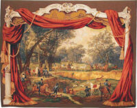 Napoleon in the Forest tapestry - elegant French hunting tapestries