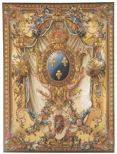 Arms of France gobelins tapestry wall-hanging
