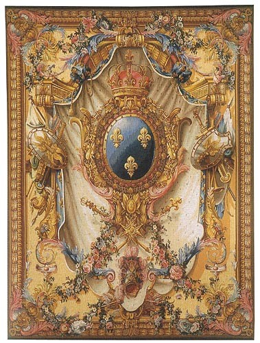 French Coat of Arms - gold tapestry