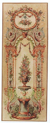 Elysee Portiere bouquet tapestry - pair of portieres