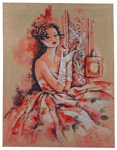 Parfum des Roses tapestry - woven in Belgium