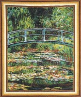 Bridge at Giverny wall tapestry - Belgian wall-hanging