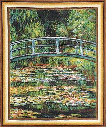 Bridge at Giverny wall tapestry - Belgian wall-hanging