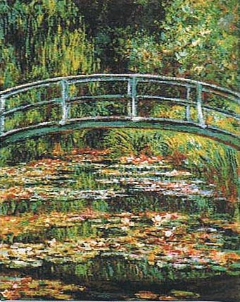 Bridge at Giverny tapestry - Claude Monet's gardens