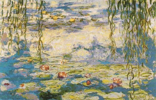 Monet Waterlilies tapestry - Les Nympheas water lilie