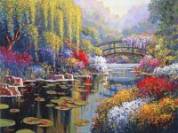 Giverny Pond tapestry - Claude Monet's gardens
