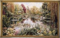 Monet's Garden tapestry 1 - Monet wall tapestries