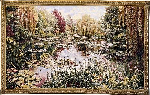 Monet's Garden tapestry 1 - Monet wall tapestries