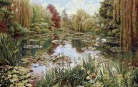 Monet's Garden tapestry 1 no border - Belgian wall tapestries