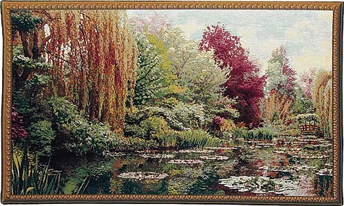 Monet's Garden tapestry - left - Monet tapestries
