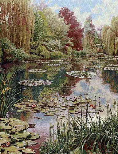 Monet's Garden tapestry 2 unbordered - Claude Monet