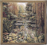 Monets Garden tapestry 3 - Belgian tapestry wall hanging
