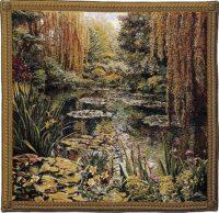 Monets Garden tapestry 3 - Belgian wall tapestry