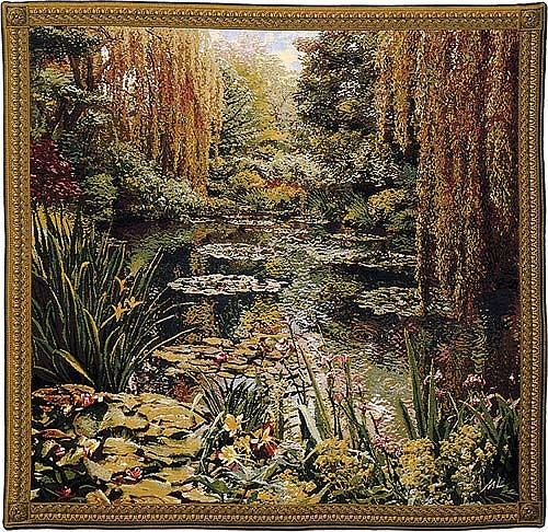Monets Garden Tapestry 3   Belgian Wall Tapestry