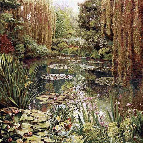 Monet's Garden tapestry 3 unbordered - Monet tapestries