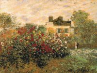 Claude Monets House tapestry - woven in France