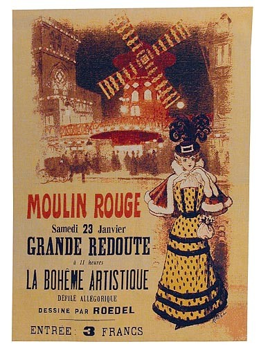 Moulin Rouge Programme - French tapestry