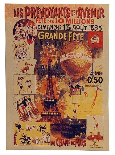 Grande Fete tapestry - French poster art