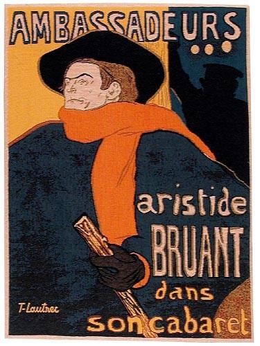 Aristide Bruant tapestry - Henri de Toulouse-Lautrec