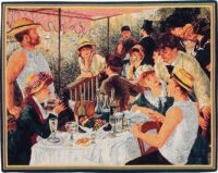 Lunch of the Boatmen tapestry - small French wall tapestry