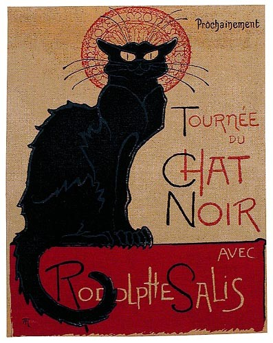 The Black Cat tapestry - Le Chat Noir