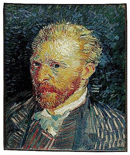 Van Gogh Portrait - Belgian tapestry wall hanging