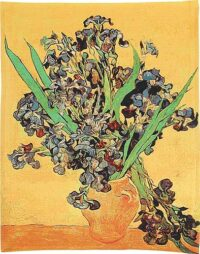 Van Gogh Vase with Irises - Belgian tapestry