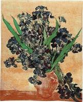 Van Gogh Irises - beige tapestry